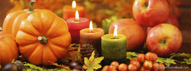 Thanksgiving Candles Pumpkin Fruit, Free Facebook Timeline Profile Cover, Holidays