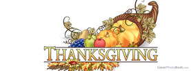 Thanksgiving Cornucopia Basket Vector, Free Facebook Timeline Profile Cover, Holidays