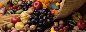 Thanksgiving Cornucopia Horn Fruits, Free Facebook Timeline Profile Cover, Holidays