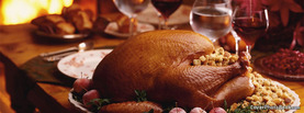 Turkey Thanksgiving Dinner Fireplace, Free Facebook Timeline Profile Cover, Holidays