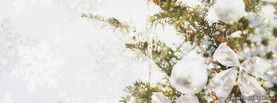 Winter Christmas Tree White Sparkle, Free Facebook Timeline Profile Cover, Holidays