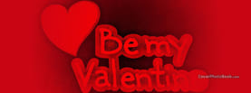 Be my Valentine Heart, Free Facebook Timeline Profile Cover, Love