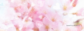 Bright Love Heart White Pink Flowers, Free Facebook Timeline Profile Cover, Love