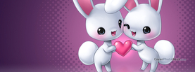 Cute Bunny Love Valentine, Free Facebook Timeline Profile Cover, Love
