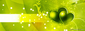 Happy Valentine Stripe Glows Green, Free Facebook Timeline Profile Cover, Love