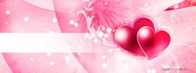 Happy Valentine Stripe Glows Pink, Free Facebook Timeline Profile Cover, Love