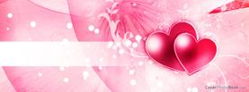 Happy Valentine Stripe Glows Pink, Free Facebook Timeline Profile Cover, Love