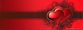 Happy Valentines Stripe Retro Red , Free Facebook Timeline Profile Cover, Love