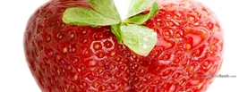 Healthy Strawberry Heart, Free Facebook Timeline Profile Cover, Love