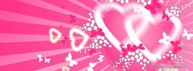 Heart Love Butterflies, Free Facebook Timeline Profile Cover, Love