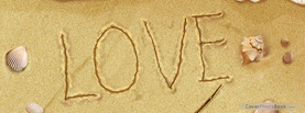 Love Beach Sand, Free Facebook Timeline Profile Cover, Love