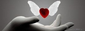 Love Heart Wings Angel, Free Facebook Timeline Profile Cover, Love