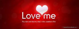 Love Me Heart, Free Facebook Timeline Profile Cover, Love