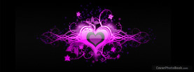 Purple Heart Love Floral, Free Facebook Timeline Profile Cover, Love