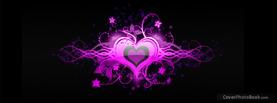 Purple Heart Love Floral, Free Facebook Timeline Profile Cover, Love