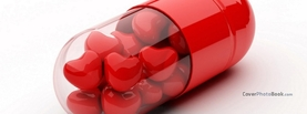 Valentine Love Pills, Free Facebook Timeline Profile Cover, Love