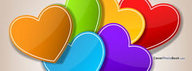 Valentine's Day Colorful Hearts, Free Facebook Timeline Profile Cover, Love