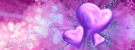 Valentines Hearts Purple, Free Facebook Timeline Profile Cover, Love