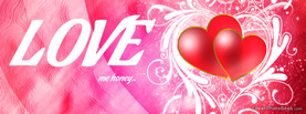 Valentines Love Me Honey Pink, Free Facebook Timeline Profile Cover, Love