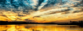 Beautiful Clouds Sunset Lake, Free Facebook Timeline Profile Cover, Nature