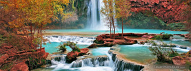 Beautiful Colored Waterfall, Free Facebook Timeline Profile Cover, Nature