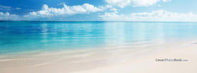 Calm Summer Aqua Blue Sea Beach, Free Facebook Timeline Profile Cover, Nature