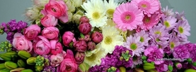 Collection of Flowers Pink Purple White, Free Facebook Timeline Profile Cover, Nature