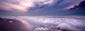 Foamy Beach Waves, Free Facebook Timeline Profile Cover, Nature