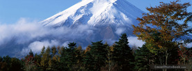 Fuji Mountain Forrest, Free Facebook Timeline Profile Cover, Nature