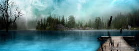 Misty Lake, Free Facebook Timeline Profile Cover, Nature