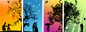 Romantic Four Seasons, Free Facebook Timeline Profile Cover, Nature