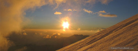 Sky Mountain Sun, Free Facebook Timeline Profile Cover, Nature