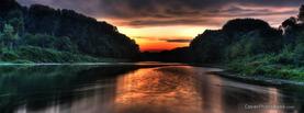 Sunrise River, Free Facebook Timeline Profile Cover, Nature