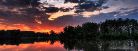Sunset Mirror Lake, Free Facebook Timeline Profile Cover, Nature