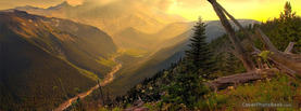 Sunset Mountain Valley, Free Facebook Timeline Profile Cover, Nature