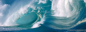 Surf Waves Tropical Beach, Free Facebook Timeline Profile Cover, Nature