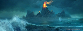 Volcano Island Sea Storm, Free Facebook Timeline Profile Cover, Other Cool