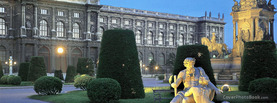 Austrian Garden at Twilight Vienna, Free Facebook Timeline Profile Cover, Places