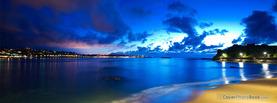 Beautiful Blue Seashore, Free Facebook Timeline Profile Cover, Places