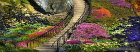 Beautiful Colorful Garden, Free Facebook Timeline Profile Cover, Places