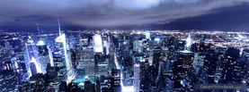 City Skyline Blue, Free Facebook Timeline Profile Cover, Places