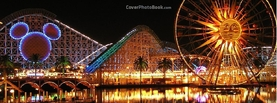 Disneyland Night Life, Free Facebook Timeline Profile Cover, Places