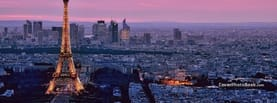 Eiffel Tower Pink Sky, Free Facebook Timeline Profile Cover, Places