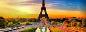 France Eiffel Tower Colorful City Sunset, Free Facebook Timeline Profile Cover, Places