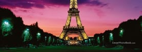 France Eiffel Tower Lights Night, Free Facebook Timeline Profile Cover, Places