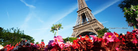 France Paris Eiffel Tower Flowers, Free Facebook Timeline Profile Cover, Places