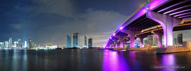 Miami City Lighting, Free Facebook Timeline Profile Cover, Places