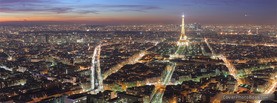 Paris City Eiffel Tower, Free Facebook Timeline Profile Cover, Places