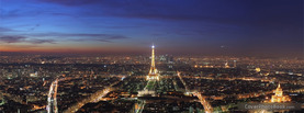 Paris Eiffel Tower Evening, Free Facebook Timeline Profile Cover, Places
