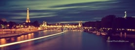 Paris France Night Roads Neon Lights, Free Facebook Timeline Profile Cover, Places